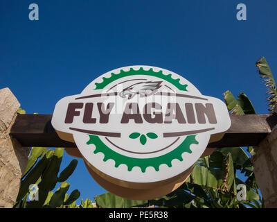 The 'Fly Again' Irish Pub in Cyprus - Stock Image