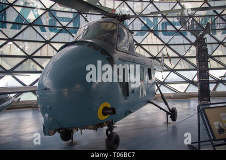 Sikorsky / Westland / Soko S-55 Mk-5 helicopter at display in Serbian Aeronautical museum in Belgrade - Stock Image