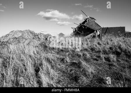 Collapsed Farm Shed - Stock Image