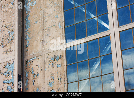 window of old government hangar - Stock Image