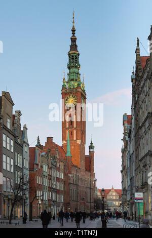 City Hall on Dlugi Targ, Gdansk, Poland - Stock Image