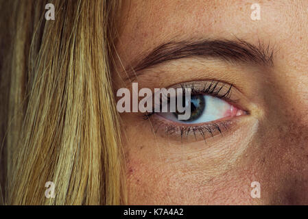 Close-up of woman's eye - Stock Image