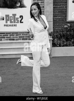 Los Angeles, CA - June 02, 2019: Dania Ramirez attends the Premiere Of Universal Pictures' 'The Secret Life Of Pets 2' held at Regency Village Theatre - Stock Image