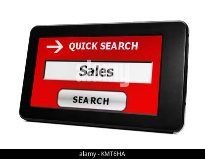 Search for sales - Stock Image