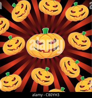 halloween pumpkins - Stock Image