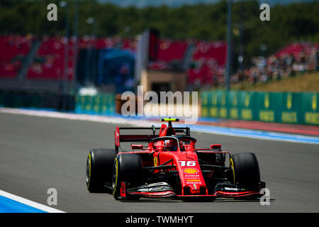 Marseille, France. 21st Jun 2019. FIA Formula 1 Grand Prix of France, practise sessions; Charles Leclerc of the Ferrari Team in action during the free practice 2 Credit: Action Plus Sports Images/Alamy Live News - Stock Image