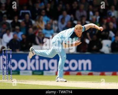 Emerald Headingley, Leeds, Yorkshire, UK. 21st June, 2019. ICC World Cup Cricket, England versus Sri Lanka; Ben Stokes of England Credit: Action Plus Sports/Alamy Live News - Stock Image