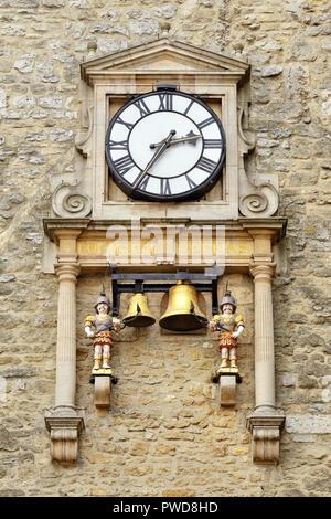 Carfax Tower Clock, St Martin's Tower, Oxford, United Kingdom - Stock Image