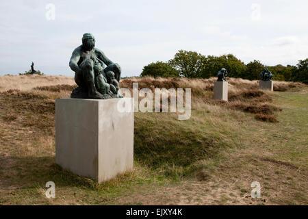 Rudolph Tegner outdoor statue park in Dronningmoelle Denmark - Stock Image