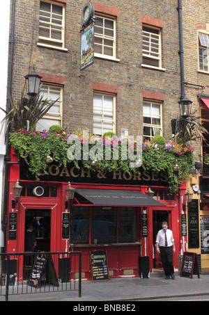 Coach and Horses Pub Covent Garden London - Stock Image