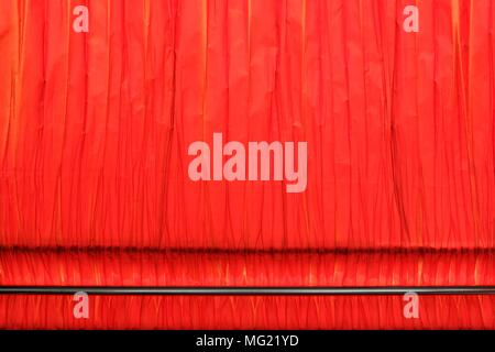 Red Curtain Background. - Stock Image