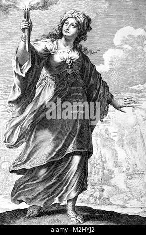 Fourth Ottoman-Venetian War, Greek Heroine - Stock Image