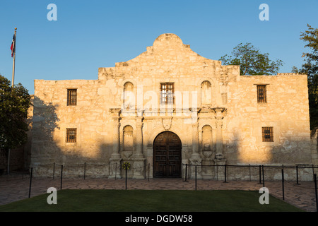 The Alamo on a sunny day San Antonio Texas USA - Stock Image