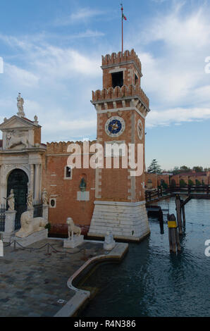 The Arsenal shipyard in Venice Italy - Stock Image