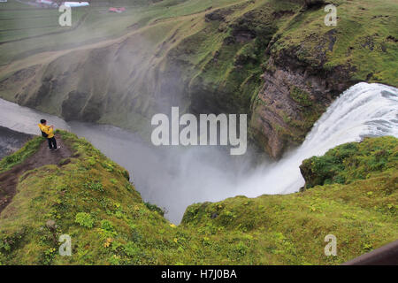 Skógafoss waterfall in Iceland - Stock Image