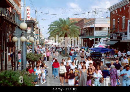 Tampa Florida Ybor CityAvenue annual Fiesta Day community ethnic festival - Stock Image