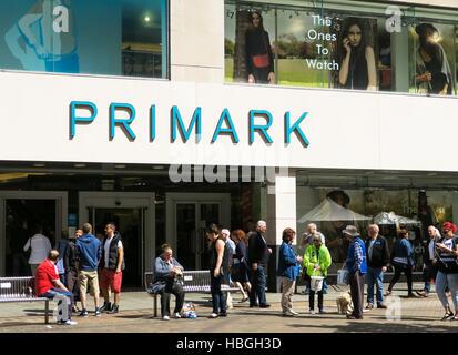 Primark department store in Nottingham, UK. - Stock Image
