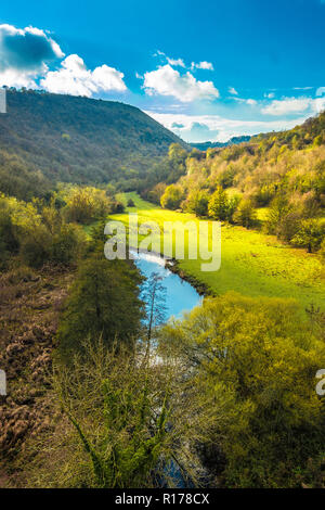 View of Monsal Dale from the Headstone Viaduct. - Stock Image