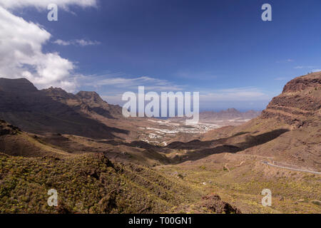 Volcanic landscape near Tastarte, Gran Canaria - Stock Image