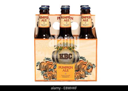 Kennebunkport Brewing Company KBC Seasonal Pumpkin Ale - Stock Image