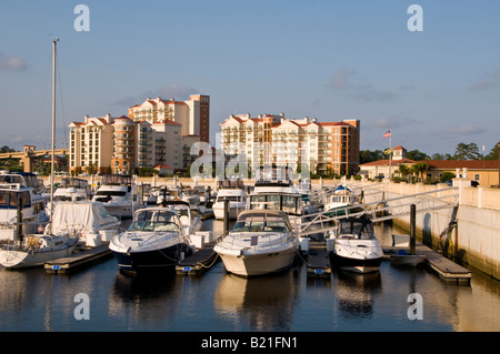 Myrtle Beach South Carolina SC marina inn at grand dunes luxury hotel resort lodging accommodations water waterway - Stock Image
