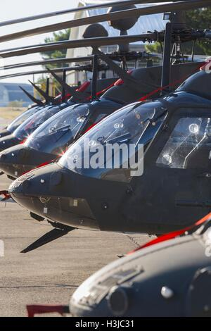 Kiowa Warrior OH-58D helicopters OH58D HRZ Croatian Air Force Zemunik near Zadar helicopter staged during public - Stock Image