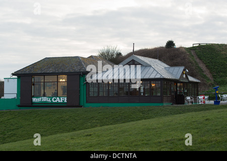West Hill Cafe situated on the West Hill in Hastings close to Hastings Castle and Smugglers Adventure attractions - Stock Image