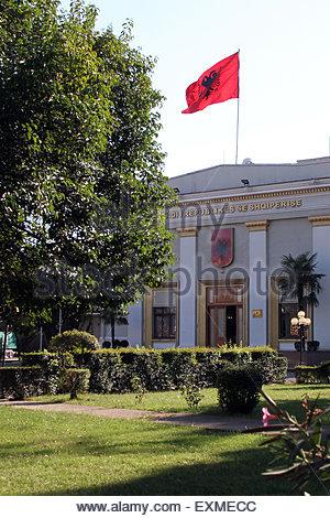 Tirana, Albania. 05th Sep, 2013. The Albanian parliament in Tirana. © Dominic Dudley/Pacific Press/Alamy Live - Stock Image