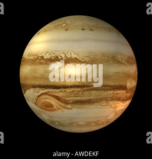 The Jupiter is the fifth planet in the solar system - Stock Image