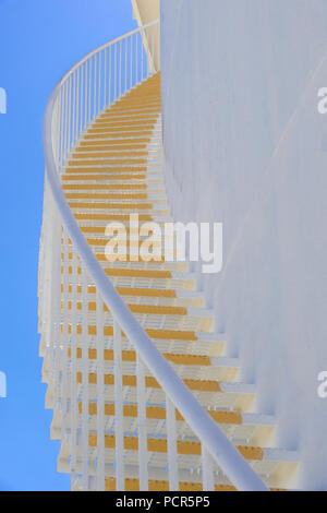 Stairs on Exterior Of Fuel Storage Tank - Stock Image