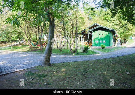 The Camping Suza Baranje, near Croatia border with Hungary and Serbia, August 28, 2018. (CTK Photo/Libor Sojka) - Stock Image