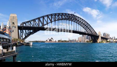 Sydney Opera House and Harbour Bridge, Sydney, Australia - Stock Image