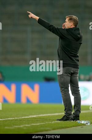 Eat, Deutschland. 21st Mar, 2019. firo: 21.03.2019, football, U21 friendly match, season 2018/2019, U21, Germany - France, 2: 2, Stefan KUNTZ, coach, GER, Germany, on the sidelines, gesture, facial expressions, gives instructions, gives tips, whole Figure, | usage worldwide Credit: dpa/Alamy Live News - Stock Image