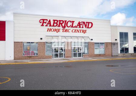 Fabricland fabric store Home Dec Centre in Peterborough Ontario Canada - Stock Image