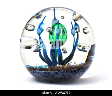 Large Limited Edition Glass Paperweight by Caithness FOR EDITORIAL USE ONLY - Stock Image