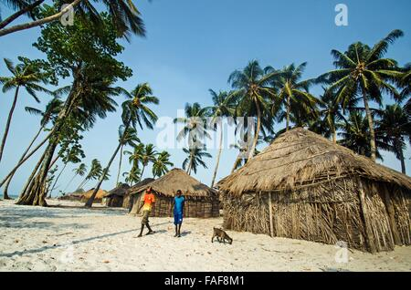 Nyangai Island, Turtle Islands, Sierra Leone. - Stock Image
