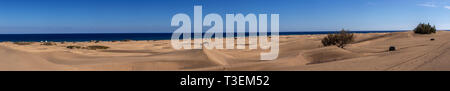 Sand dunes at Maspalomas, Gran Canaria, Canary Islands - Stock Image