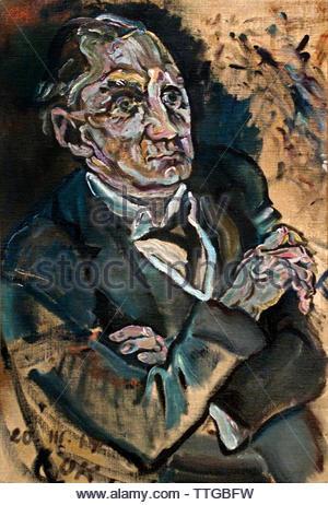 Portrait of Max Schmidt 1914 by Oskar Kokoschka born 1886 Austria Austrian (expressionistic portraits and landscapes) - Stock Image