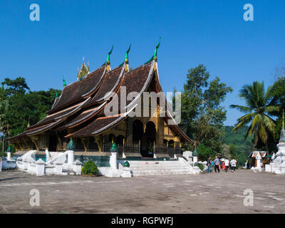 Wat Xieng Thong a Buddhist temple in Luang Phrabang Laos one of the most important of Lao monasteries monument to spirit of religion royalty and tradi - Stock Image