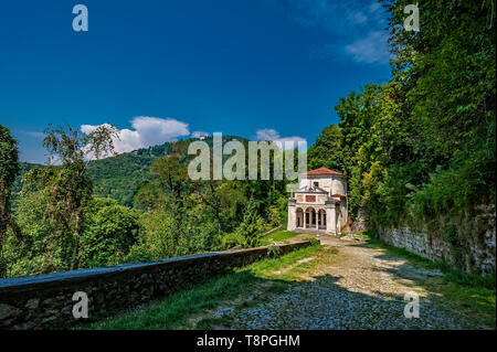 Italy Lombardy Unesco World heritage Site - Sacro Monte di Varese ( Varese sacred Mount ) - X chapel -the crucifixion - Stock Image