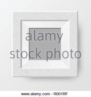Realistic blank photo frame - Stock Image