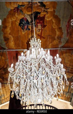 Chandelier Church Of Nossa Senhora Do Monte Madeira Portugal - Stock Image
