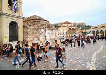 Monastiraki Square, Athens - Stock Image