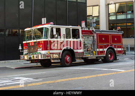 Truck fire fighter equipped - Stock Image