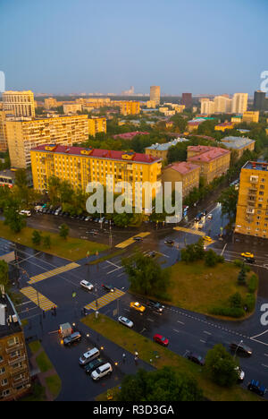 Alexeyevsky District, elevated view, Moscow, Russia - Stock Image