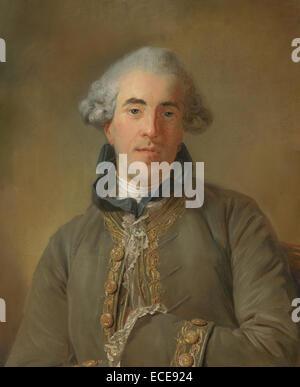 Portrait of Théophile Van Robais; Jean-Baptiste Perronneau, French, 1715 - 1783; France, Europe; 1770; Pastel - Stock Image