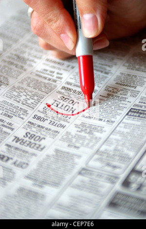 Help Wanted Section of Newspaper - Stock Image