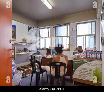 View into herbal doctor's studio. Pioneer Place, Durban, South Africa. Architect: designworkshop : sa, 2016. - Stock Image