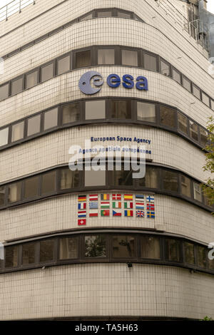 France, Paris, 2019 - 04 The European Space Agency  an intergovernmental organisation of 22 member states dedicated to the exploration of space. Estab - Stock Image