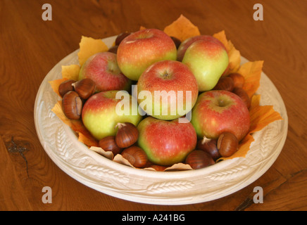 Mela Rosa apples are  an ancient type of apple unique to the Sibillini National Park in Le Marche Italy - Stock Image